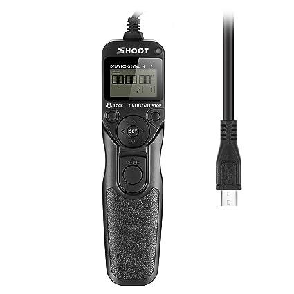 SHOOT RR-90 Cable del Disparador Remoto del Temporizador de Pantalla LCD para Fuji RR-90 Fujifilm X-T1 X-M1 X-A1 X-A2 Cámara