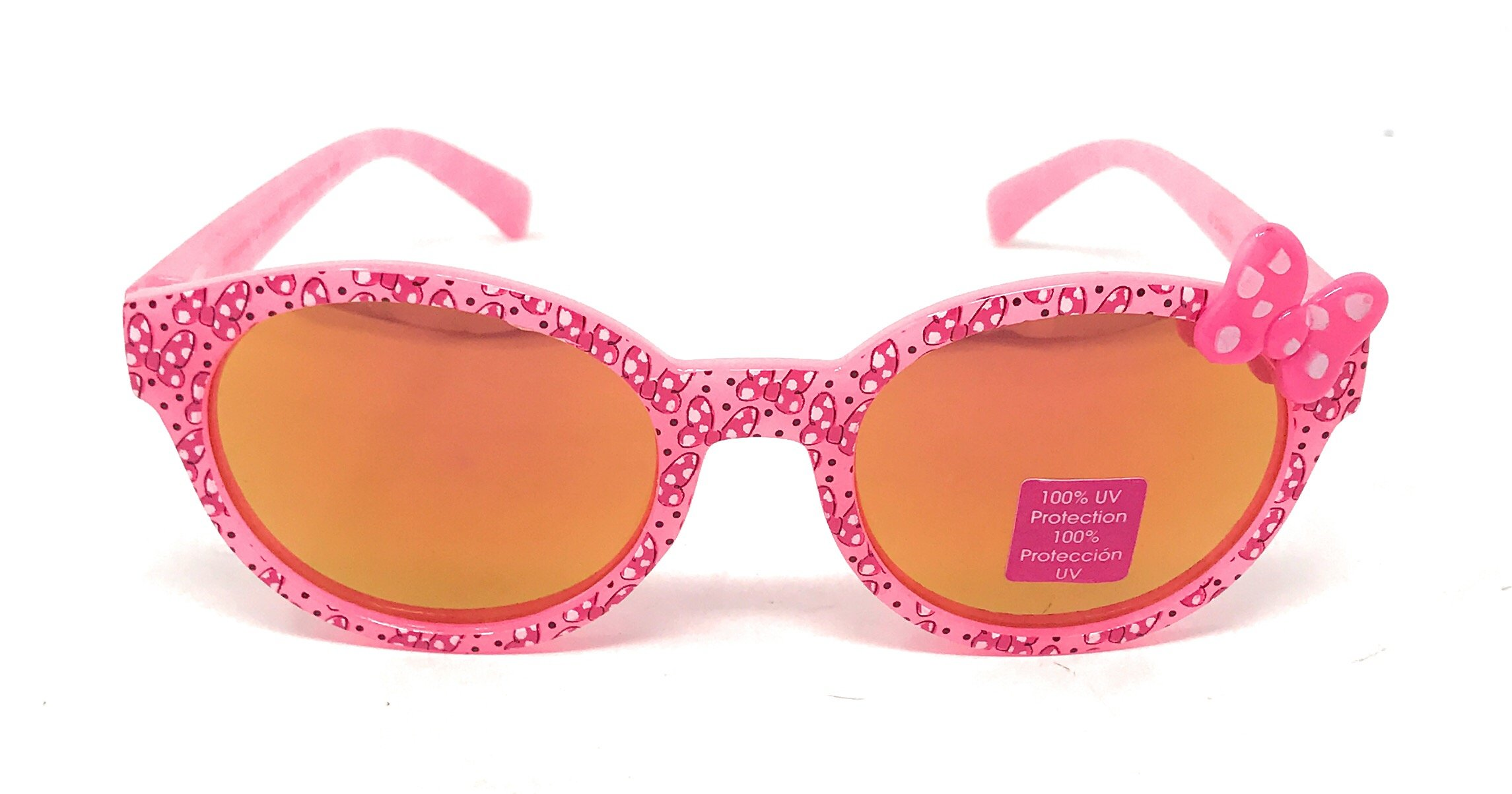 Disney Store  Minnie Mouse Girl's Sunglasses in Pink with Bow - 100% UV Protection