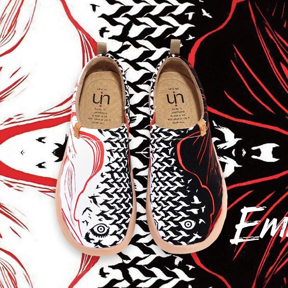 Unisexe Flats Casual Toile Art Peint Baskets de Sports Voyage Sneakers Chaussure Bateau Femme Chaussures de Marche L/éger Dames UIN Chaussures Femmes