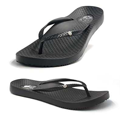 "2e9f58dd4b2a45 FootActive ""Tiki Girl"" Orthotic Flip-Flops - Great-looking Flip-Flops with  amazing cushioning and biomechanical arch to support feet and provide  relief from ..."