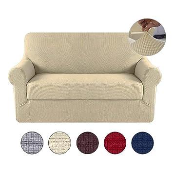 Amazon.com: Umiwe Fundas de sofá de 3 plazas y 2 plazas ...