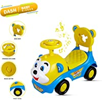 !!! Don't Miss Launch Offer !!! Dash 2 in 1 Attractive Baby Toy Monkey Ride On , Baby car , Push Car for Toddlers and Kids with Musical Tunes n Storage (Blue)