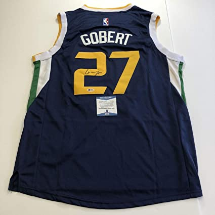 size 40 f33ab 0ab41 Rudy Gobert Autographed Signed Memorabilia Jersey Bas ...