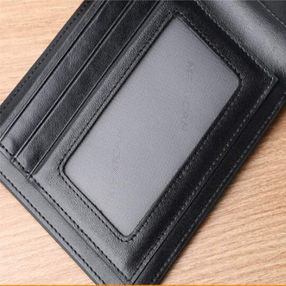 Color : Black, Size : 3.80.64.6 inch 9.5 1.5 11.5 Simple and Stylish Weaving Pattern Youth Carrying Leather Wallet Black Aishanghuayi Wallet cm Suitable for Mens Short Slim Size Color