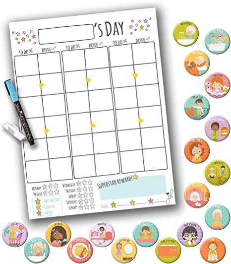 Birthday Gift Personalized Kids Velcro Star Chart Montessori Kid Chart 40 day Challenge Toddler Chart Star Chart hands on learning