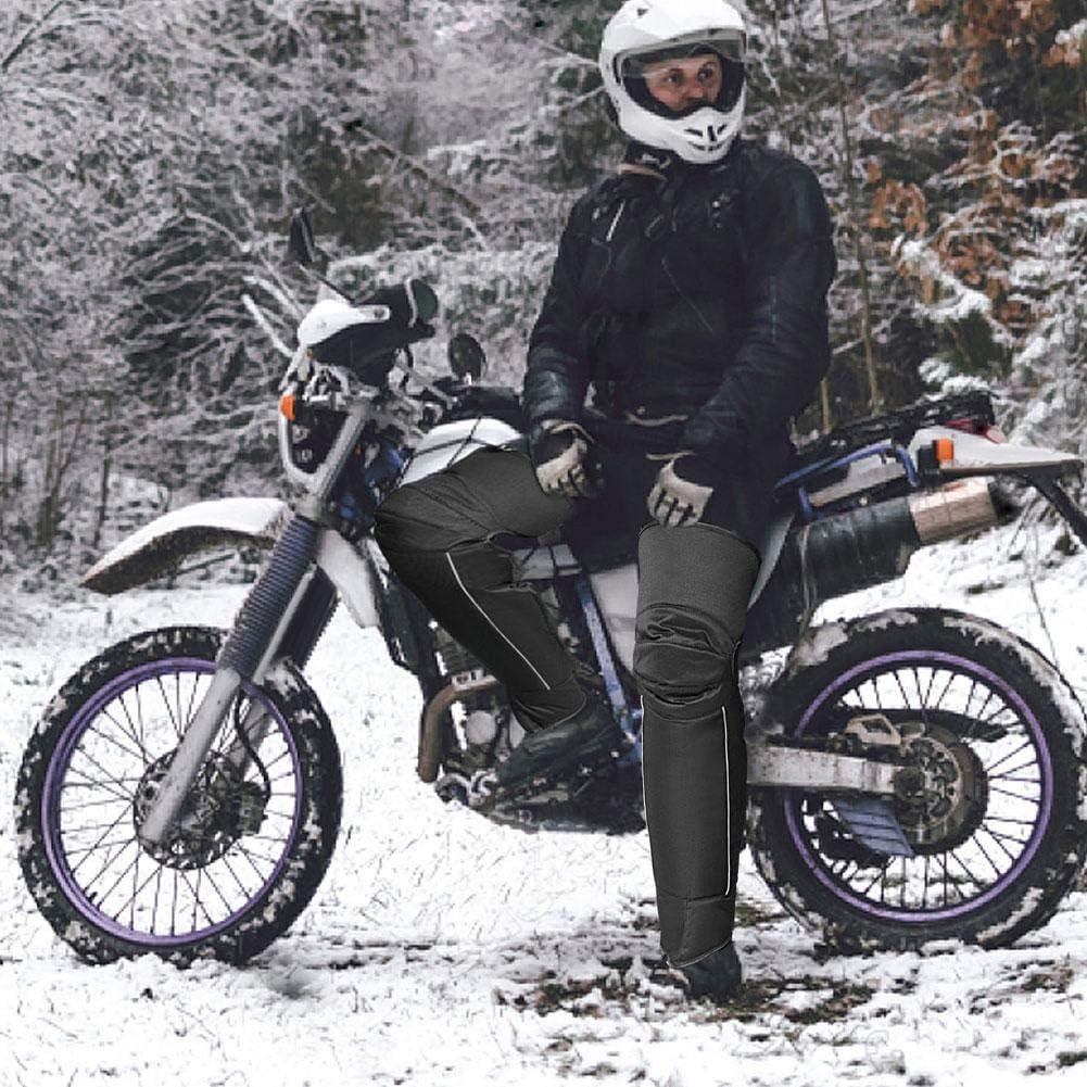 Kino Motorrad-Knieschutz Bike Halb-Chaps Leggings /Überzug Verstellbarer Gurt Winddicht Oxford-Stoff Beinw/ärmer Schutz f/ür Winter Motorradfahrer Wind Schnee