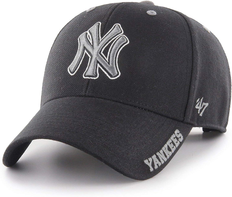 47 Brand Adjustable Cap DEFROST New York Yankees Black