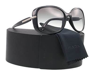 1c07ae7a9a22 Prada Sunglasses PR 08OS - 1ABOA7 Black w. Silver (Grey Gradient Lens) -  57mm  Prada  Amazon.co.uk  Clothing