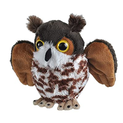 "Wild Republic Great Horned Owl Plush, Stuffed Animal, Plush Toy, Kid Gifts, Cuddlekins, 5"": Toys & Games"