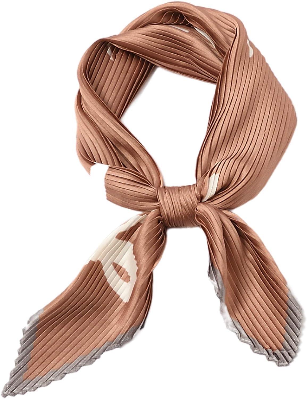 Pleated Scarfs for Women – Silky Hair Scarf – Bandana Headband - Head Scarf – Gifts for Women