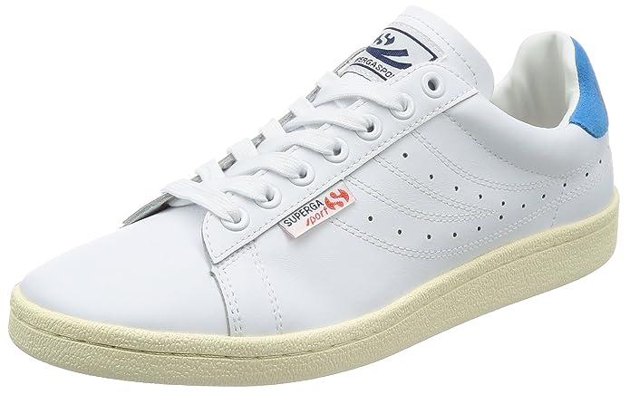 Unisex-Erwachsene 4832 Efglu Sneaker, Weiß (White Blue), 36 EU Superga