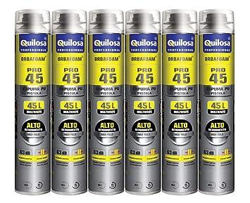 6 espumas expansives Poliuretano Pro 45 750 ml para pistola ...