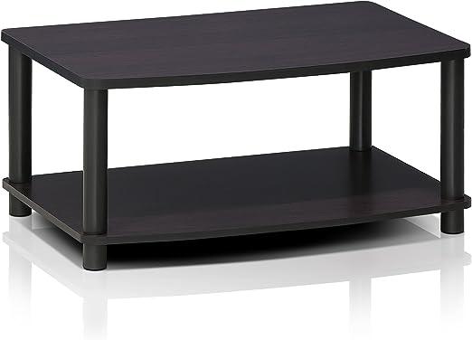 Furinno Turn-N-Tube No Tools 2-Tier Elevated TV Stand Espresso//Black