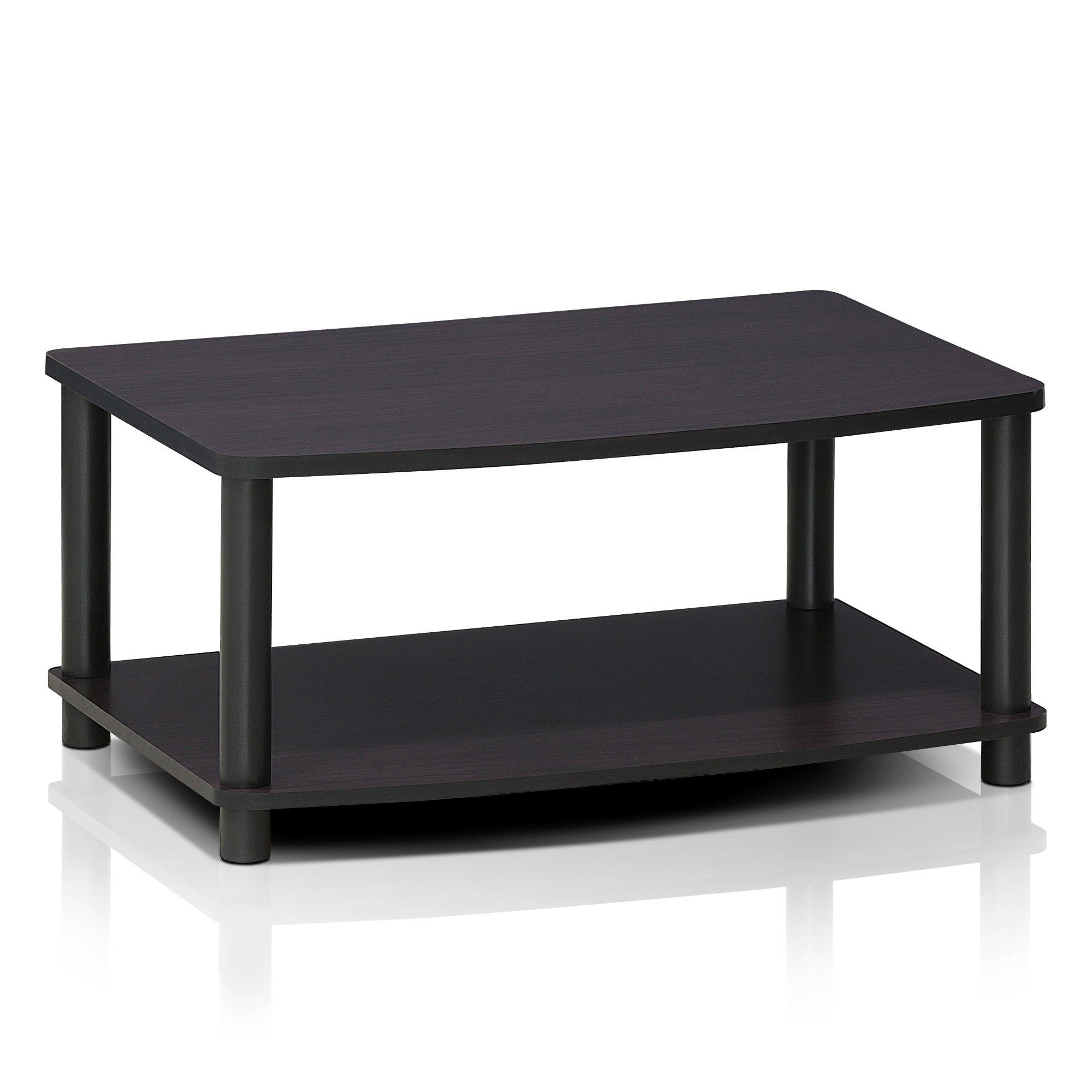 Furinno 13191DWN Turn-N-Tube No Tools 2-Tier Elevated TV Stands