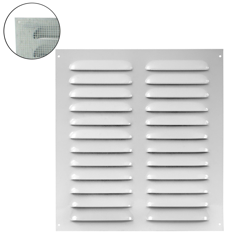 MKK –  18527 –  Rejilla de ventilació n rejilla de pared cierre metal Canalizado zufluft Mosquitera, Blanco