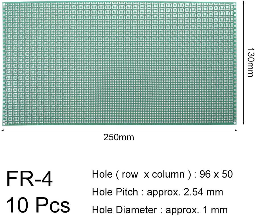 sourcing map 8x12cm universel simple face circuit imprim/é souder bricolage 10pcs
