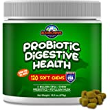 Active Chews Premium Probiotics for Dogs with Digestive Enzymes for Dogs from, Relieves Dog Diarrhea Upset Stomach Bad…