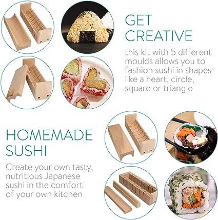 Outils de Fabrication de Sushi Moule /à Boules de Riz Triangle pour Cuisine Japonaise KARAA 6 Pcs Moule /à Sushi Triangulaire