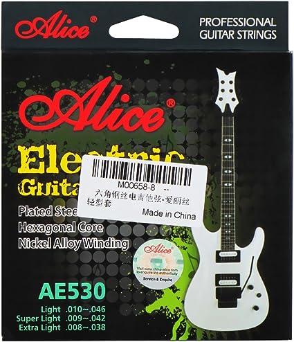 Alice cuerdas para guitarra eléctrica cuerdas de acero de núcleo ...