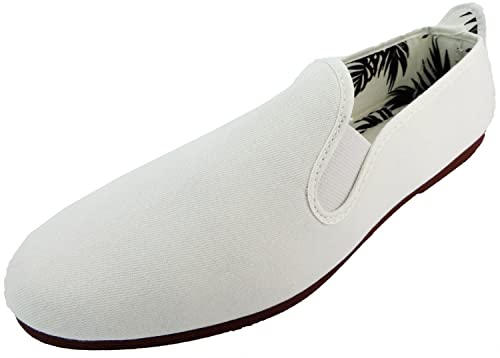 Reentrable Arnedo Mocasines para hombre Lienzo, color blanco, talla 46: Amazon.es: Zapatos y complementos