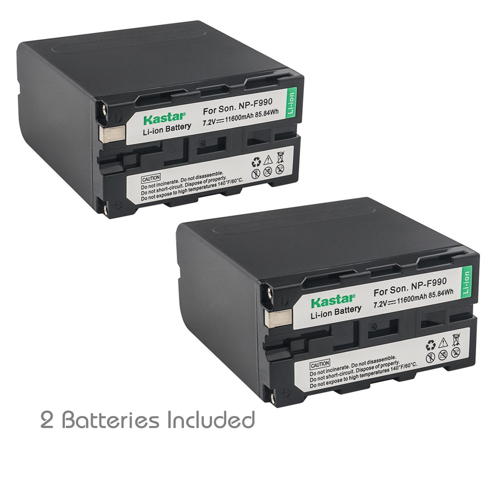 Kastar NP-F990 Battery 2 Pack, 7.2V 11600mAh Replacement for NP-F975 NP-F970 NP-F960 NP-F950 NP-F930 NP-F770 NP-F750 NP-F730 NP-F570 NP-F550 NP-F530 NP-F330 Battery, Sony Camcorder and LED Video Light by Kastar