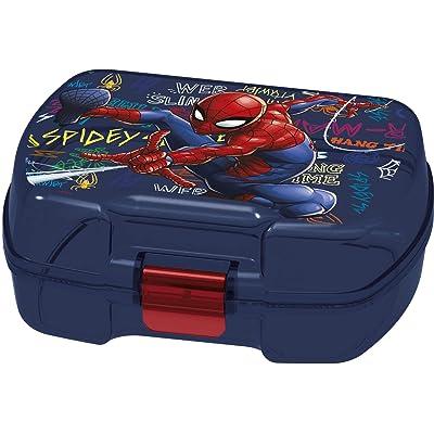 ALMACENESADAN 2005, Sandwichera Premium Rectangular Spiderman Graffiti; Producto de plástico; Libre BPA; Dimensiones 18x14x7 cm: Juguetes y juegos