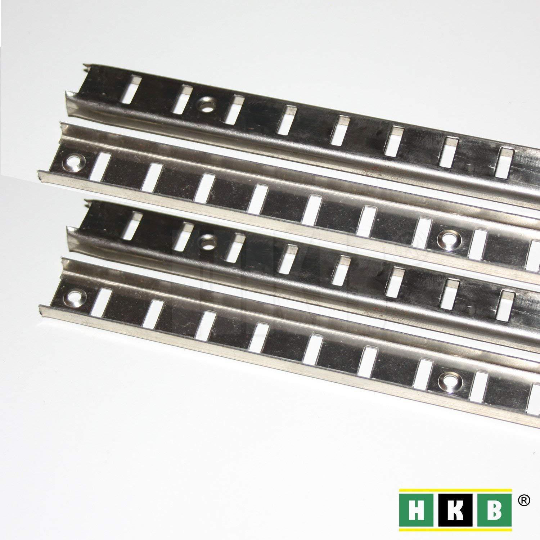 Hettich 4 St/ück Bodentr/ägerschiene 16mmVari Fachbodentr/äger M/öbelbodentr/äger L/öffelbodentr/äger Vari
