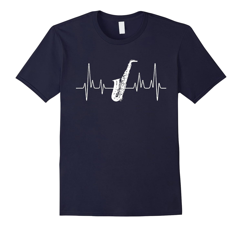 Alto Saxophone Shirts - Alto Saxophone Heartbeat Shirt-Art