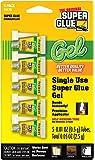 Super Glue 15176-12 Glue Gel Single Use Minis Tubes (5-Pack), 5g