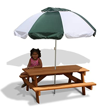 Amazon Com Gorilla Playsets Kids Picnic Table And Umbrella Toys