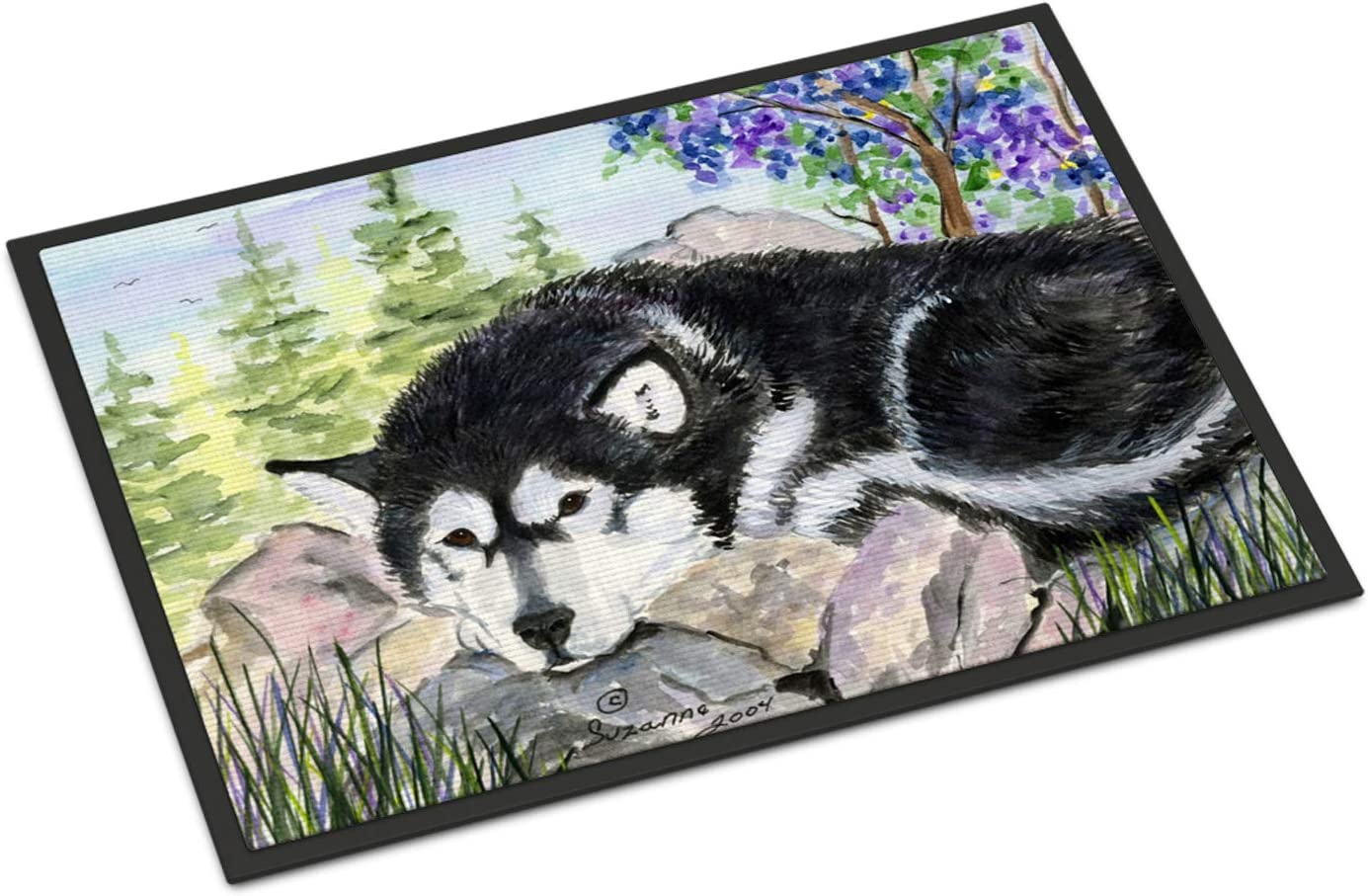Caroline s Treasures SS8062MAT Alaskan Malamute Indoor Outdoor Mat 18×27 Doormat, 18H X 27W, Multicolor