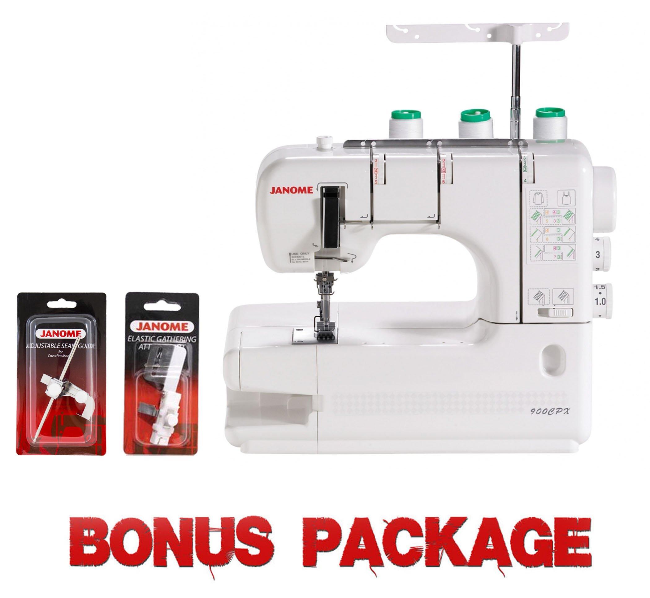 Janome CoverPro 900CPX Portable CoverHem Serger Machine With Bonus by Janome