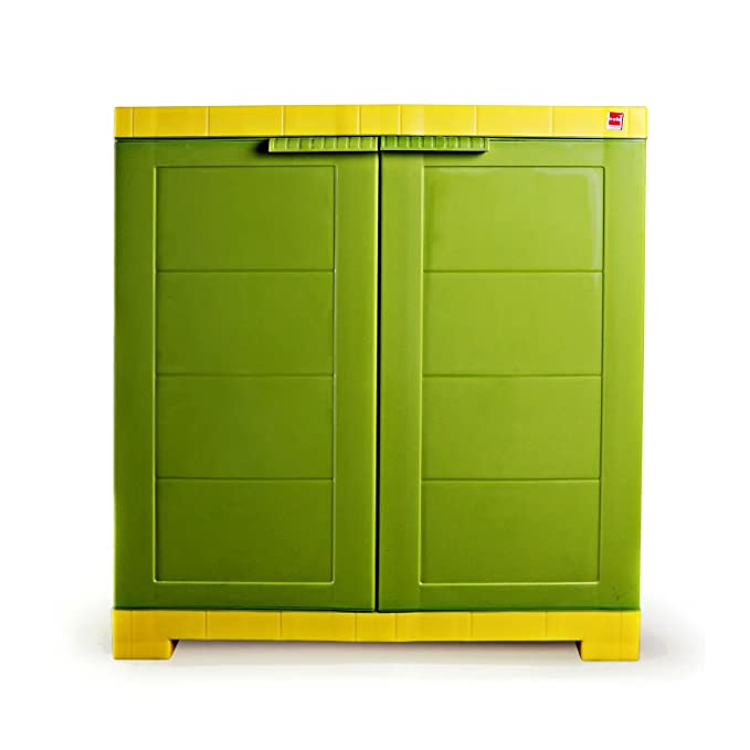 Cello CLO_WIM_NOVCOMP_GRYEL Novelty Compact Storage Cupboard  Green and Yellow