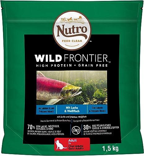 Pienso Gato Adulto Salmón y Pescado Blanco 4kg Wild Frontier Nutro ...