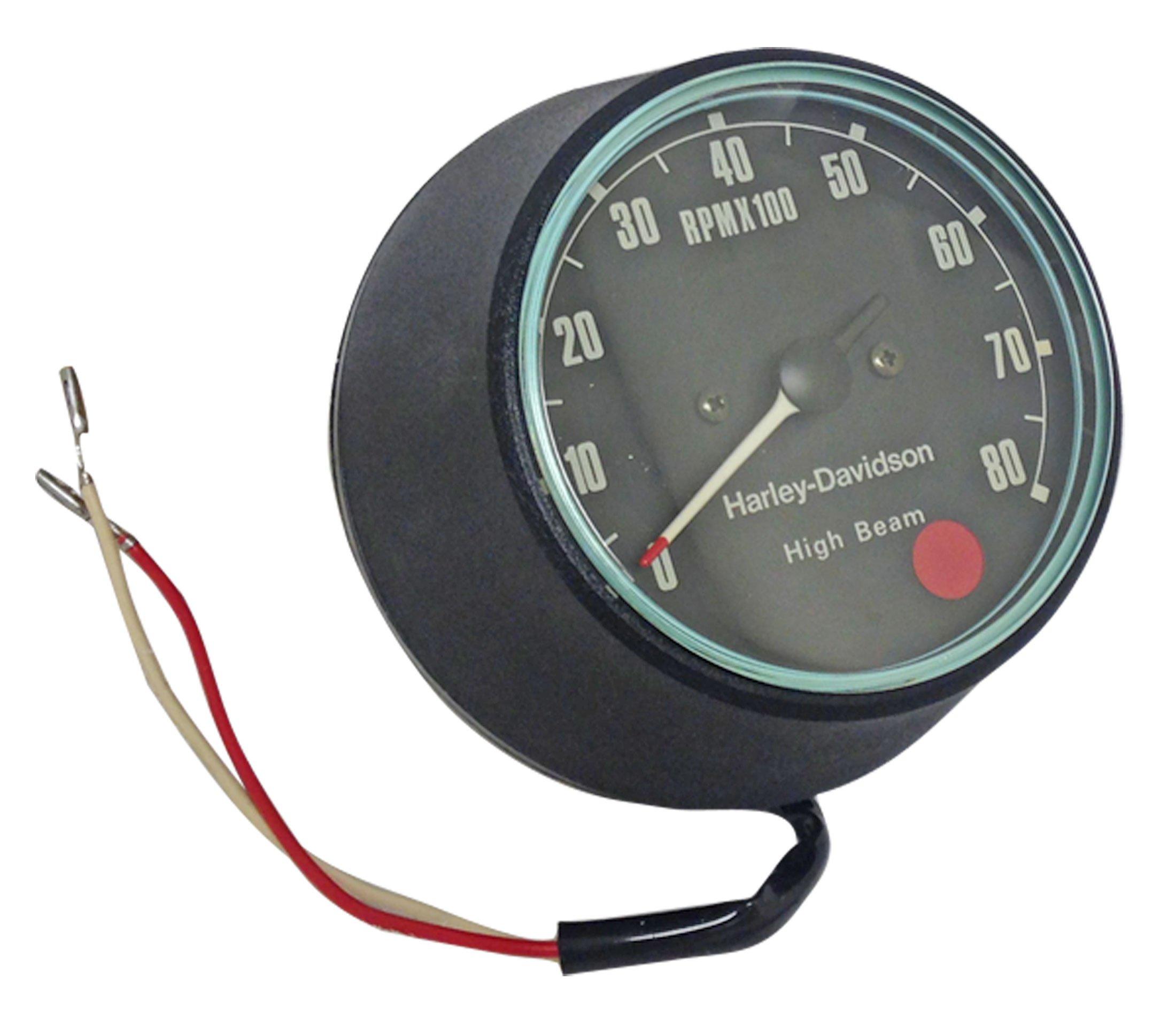 Tachometer Gauge Harley-Davidson Sportster FXR Red Dot Tach Motorcycle by BMI Karts