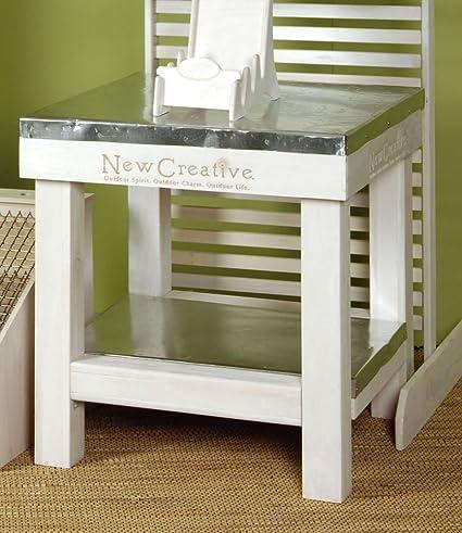 Tin Top Table (White)