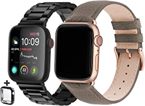 Fullmosa Compatible Apple Watch Band 44mm 42mm Compatible iWatch Band for Apple Watch SE & Series 6 5 4 3 2 1 with TPU Watch Case