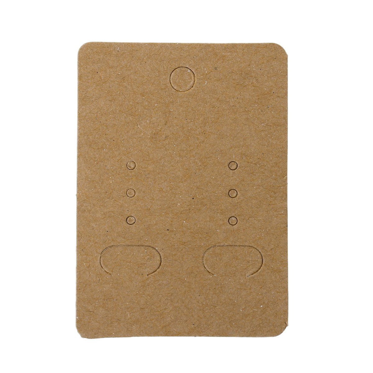 Paper Jewelry Earrings Ear Studs Display Cards Rectangle Light Coffee 7cm(2 6/8) x 5cm(2) (200 Pcs) Generic 4336834699