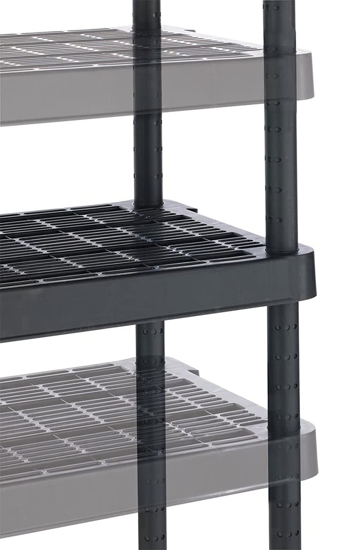 Gracious Living Adjustable 4-Shelf Medium Duty Shelving Unit