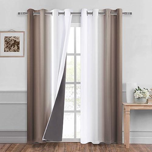 DWCN Ombre 100 Blackout Curtains