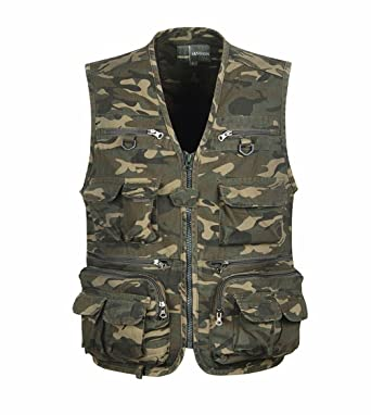 Hommes Multi Air Plein Gilet Militaire Style Camouflage hommes c3TJluF5K1