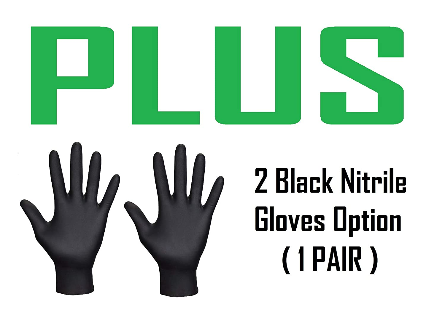2 x Cataclean Petrol Engine and Catalytic Converter Cleaning Treatment /& Pair Of Black Nitrile Gloves