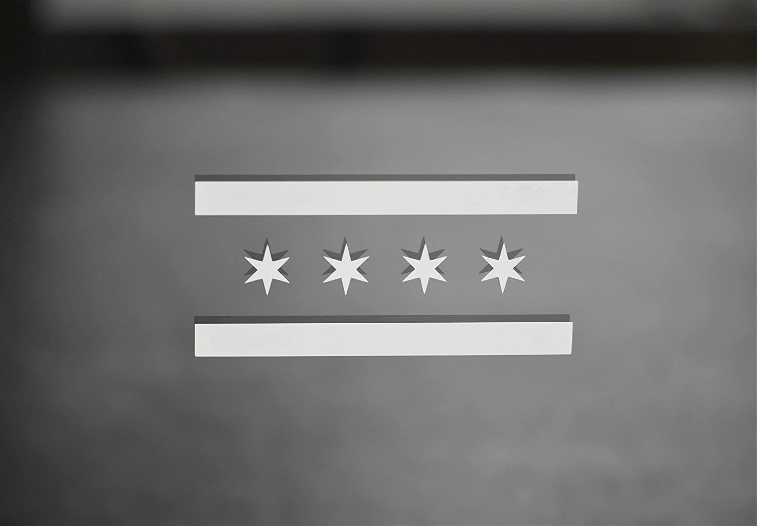 Chicago Flag Vinyl Decal Sticker for the minimalist. Great for Car Windows, Gear, Mugs, Laptops or Wherever. Comes in different sizes and colors. Select from the option menu.