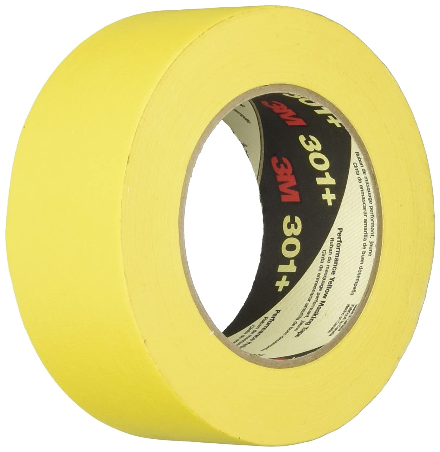 3M Performance Yellow Masking Tape, 2 Inches x 60 Yards, Yellow - 1462003