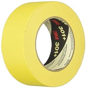 3M Performance Yellow Masking Tape, 2 Inches x 60 Yards, Yellow - 1462003