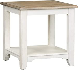 Liberty Furniture Industries Summerville End Table, W24 x D24 x H24, White