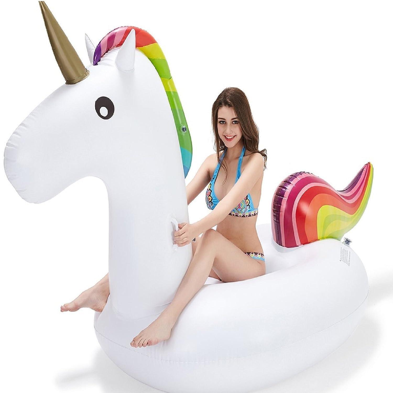 Eurotrade W Rexco - Piscina de Unicornio Arcoíris para Niños, Grande, Jumbo Gigante para Niños, Adultos, Tumbona de Juguete Inflable: Amazon.es: Juguetes y ...