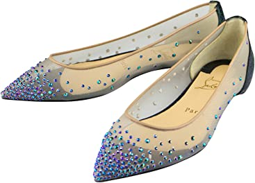 0467f44ad72b ... order christian louboutin follies strass embellished flats shoes 6.5  36.5 bacca eeb78