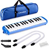 CAHAYA Melodica 2 Double Mouthpieces Tube Sets Melodicas Piano Style 32 Key Portable with Carrying Bag