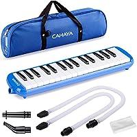 Melodica, Cahaya 32-noten met zak en mondstuk voor kinderen, blauw